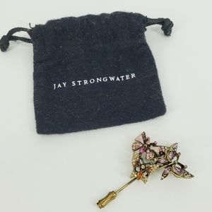 Jay Strongwater Butterfly Brooch Pin